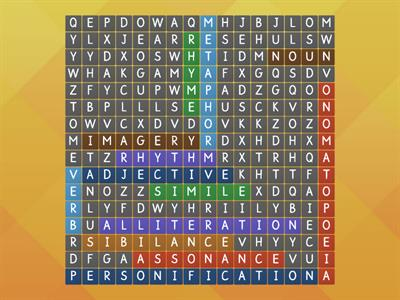 Wordsearch poetry