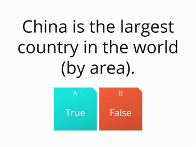 China True or False