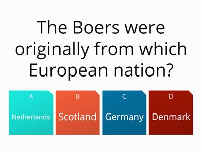 Early Boer war quiz