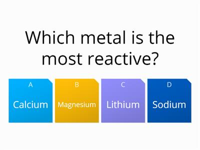 Reactions starter quiz