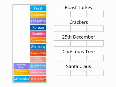 Non religious aspects of Christmas match up