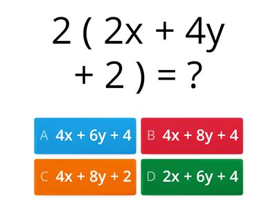 expand brackets quiz