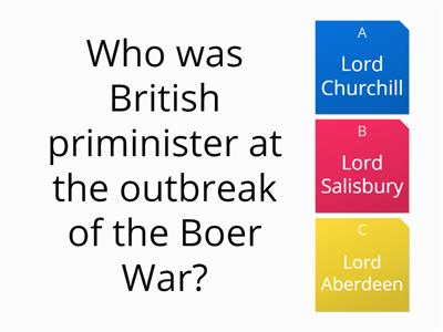 Boer war 20 questions