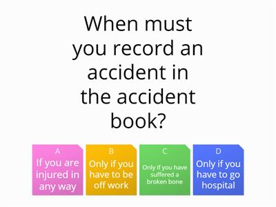 Health and safety section 2 accident prevention and reporting