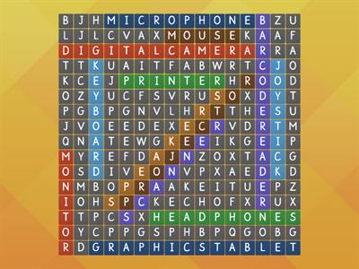 WordSearch Input_Output Devices