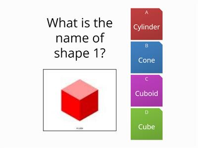 3d shapes wordwall