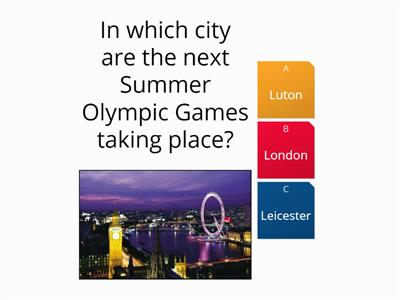 London 2012 Summer Olympic Games Quiz
