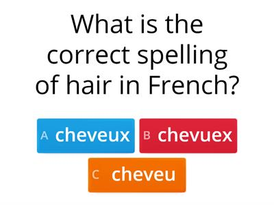 module 2 revision french quiz
