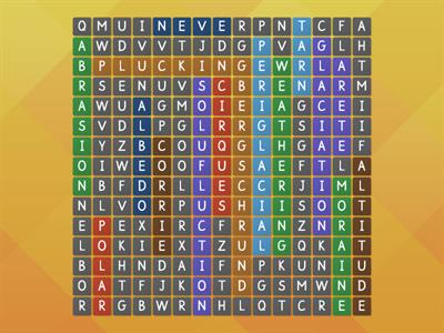 Wordsearch Key words