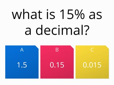 Fraction Decimal Percentage Quiz