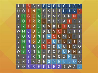 Human Health wordsearch