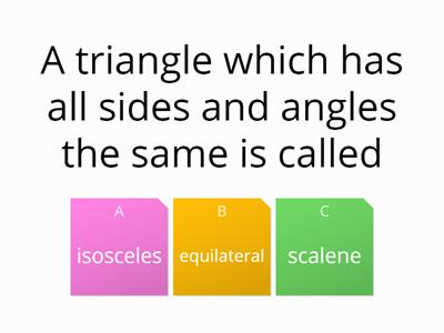2d shapes and triangle quiz