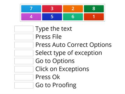 Microsoft Word - Auto Correct Match Up