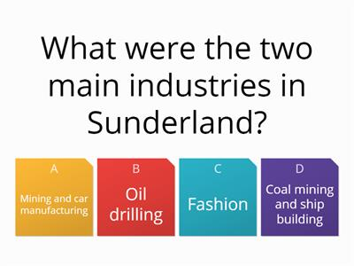 Sunderland a level quiz