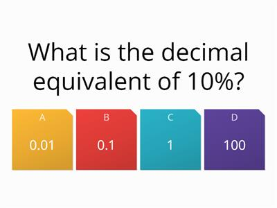 Percentage maths quiz