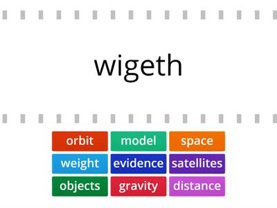 gravity and space word wall