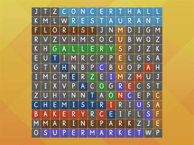 wordsearch places in town