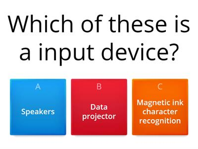input,output and storage devices