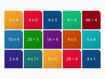 4 times table wordwall