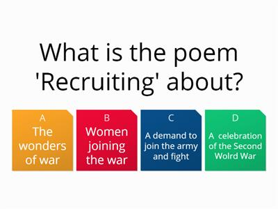 ocr war poetry quiz