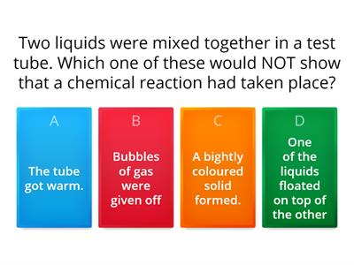 wordwall revision quiz+ simple chemcal reactions