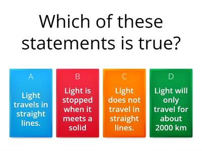 Light quick quiz