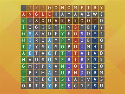 ra triangle wordsearch