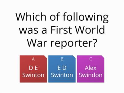 Reporting the war quiz