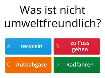 GCSE German revision quiz