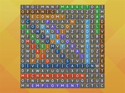 Farming wordsearch