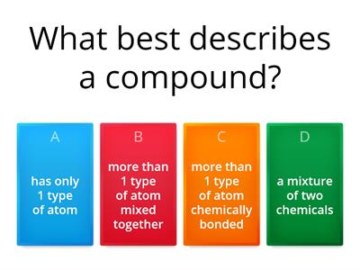 Year 8 Compounds and Mixtures