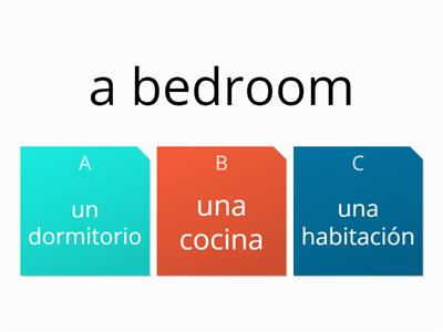 la casa multiple choice key words