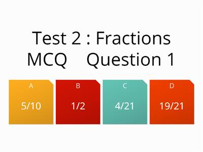 5g fractions test mcq