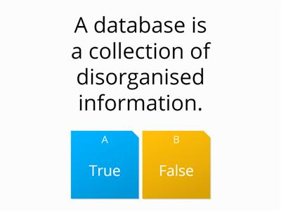 database true false
