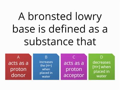 acid base quiz Y13