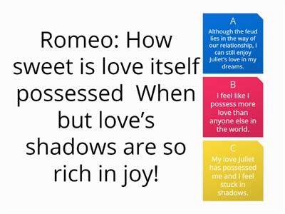 Act 5 Romeo and Juliet quiz on character