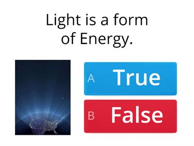 light and sound beginner quiz