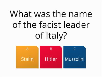Dictators and democracy quiz