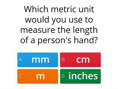 Quiz - Units of Measurement