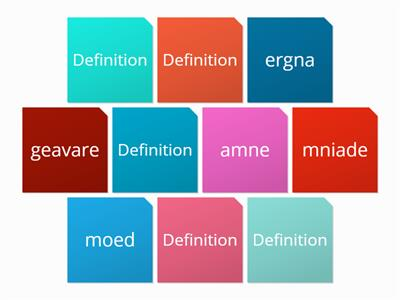 Average definitions and anagrams