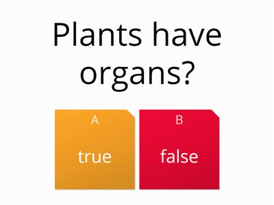 true or false organs