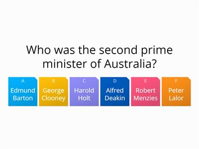 new quiz VCE Aus history