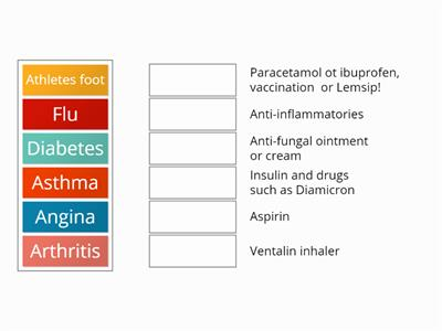 Match-Up4 Drugs for illnesses