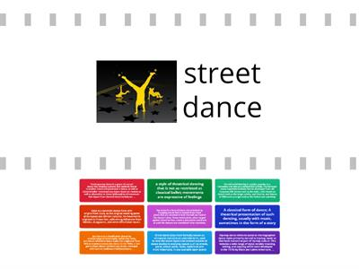 Dance Styles Word Wall