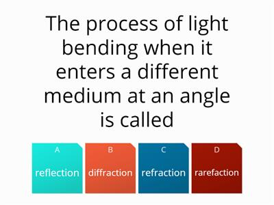 Lesson 5 Refraction quiz