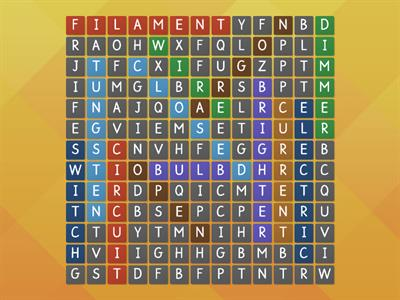 Wordsearch - electricity
