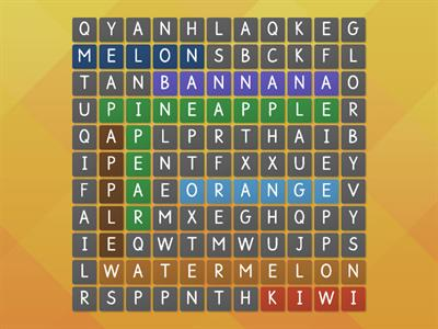 Word Search-Fruit