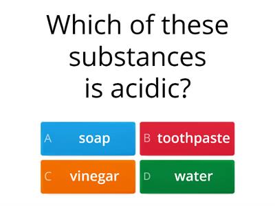 Acids Multiple Choice Quiz