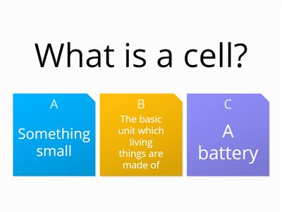 cells intro quiz