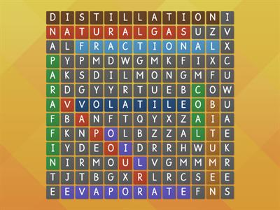 oil wordsearch